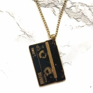 Jewelry - Cassette tape necklace charm